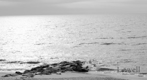 Ocean view BW